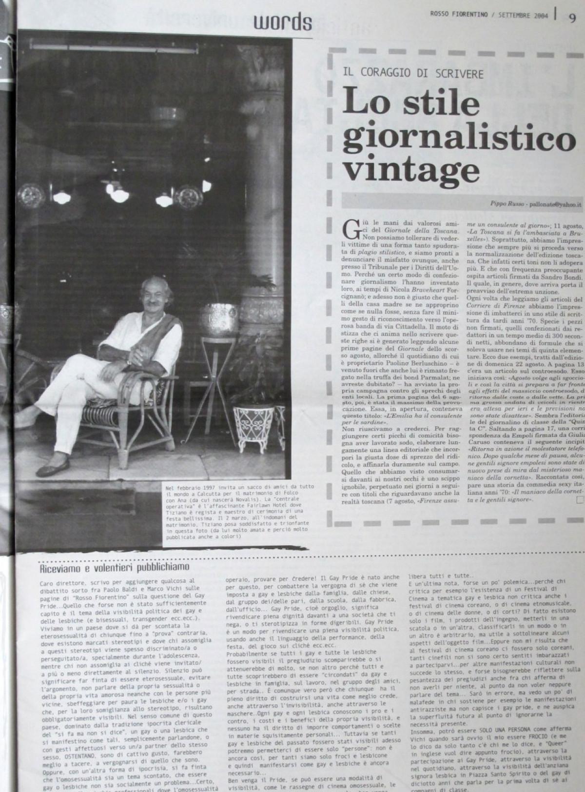 2004 - A man is dead - Rosso Fiorentino